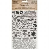 TIM HOLTZ® IDEA-OLOGY™ - Remnant Rubs - Christmas Time Black & White - TH93093